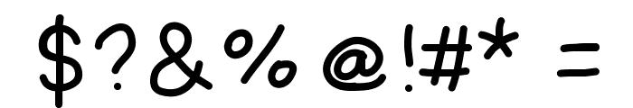AmateurComic Font OTHER CHARS