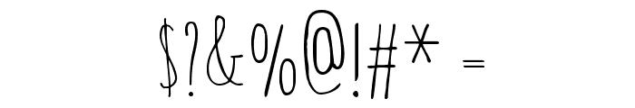 Amatic SC Regular Font OTHER CHARS