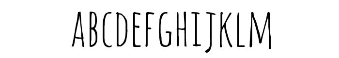 Amatic SC Regular Font LOWERCASE