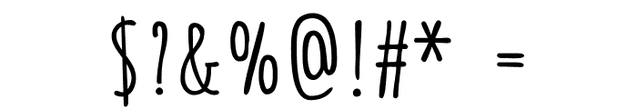 Amatica SC Bold Font OTHER CHARS