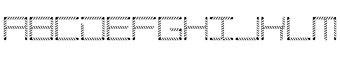 Amaya Technical Leaves Regular Font UPPERCASE