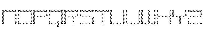 Amaya Technical Leaves Regular Font LOWERCASE