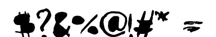 AmazHand_First_Alt Font OTHER CHARS