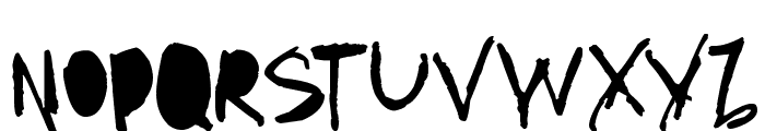 AmazHand_First_Alt Font UPPERCASE
