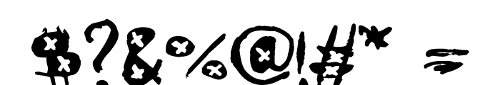 AmazHand_First_Alt_X Font OTHER CHARS