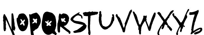 AmazHand_First_Alt_X Font UPPERCASE