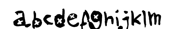 AmazHand_First_Alt_X Font LOWERCASE