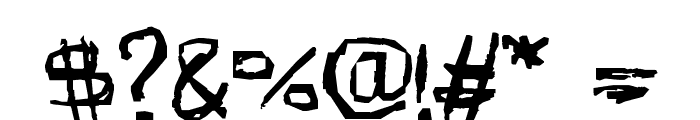 AmazHand_First_Hard Font OTHER CHARS