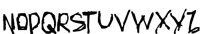 AmazHand_First_Hard Font UPPERCASE
