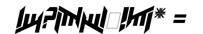 AmazObitaemOstrovItalic Font OTHER CHARS