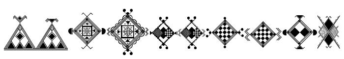 Amazigh Motifs Font OTHER CHARS