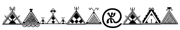 Amazigh Motifs Font OTHER CHARS