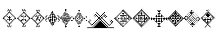Amazigh Motifs Font UPPERCASE