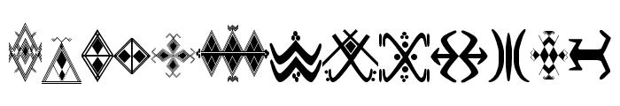 Amazigh Motifs Font LOWERCASE