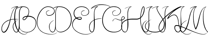 Amazing Day Everyday Font UPPERCASE