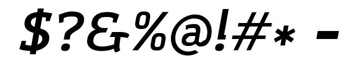 Amazing Grotesk DemiBold Italic Font OTHER CHARS
