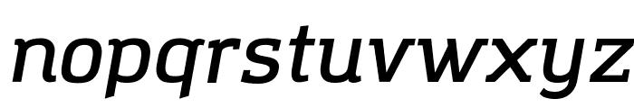 Amazing Grotesk DemiBold Italic Font LOWERCASE