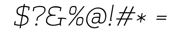 Amazing Grotesk Light Italic Font OTHER CHARS