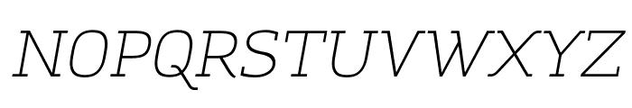 Amazing Grotesk Light Italic Font UPPERCASE