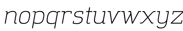 Amazing Grotesk Light Italic Font LOWERCASE