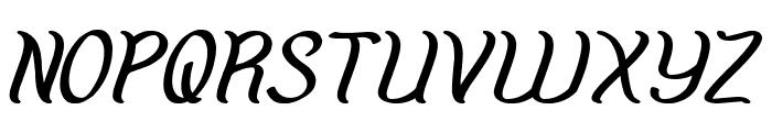 Amazing Symphony Bold Italic Font UPPERCASE