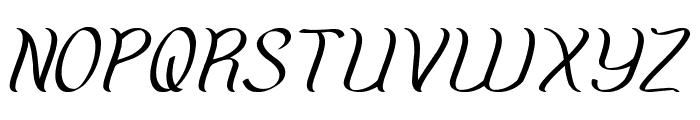 Amazing Symphony Italic Font UPPERCASE
