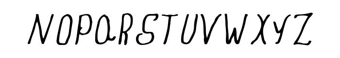 Amber  Blue Sky Handmade Font UPPERCASE