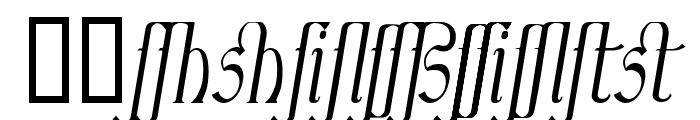 Ambrosia ItalicLigature Font LOWERCASE