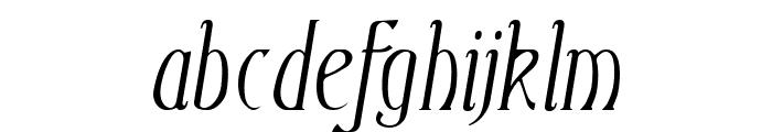Ambrosia Italic Font LOWERCASE