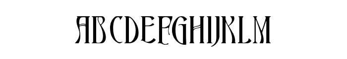 Ambrosia Ligature Font UPPERCASE
