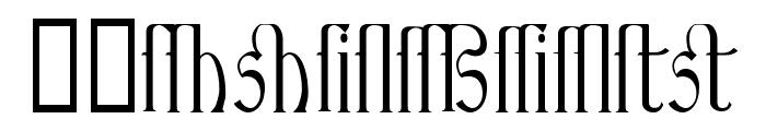 Ambrosia Ligature Font LOWERCASE