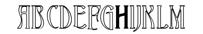 Ambrosia Outline Font UPPERCASE