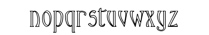 Ambrosia Outline Font LOWERCASE