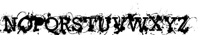 American Bravado Font UPPERCASE