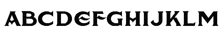 American Brewery Rough Demo Font LOWERCASE