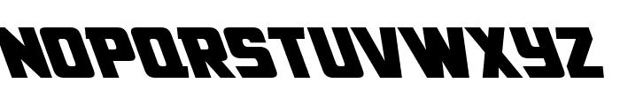 American Kestrel Leftalic Font LOWERCASE