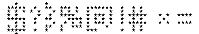 American Star Regular Font OTHER CHARS
