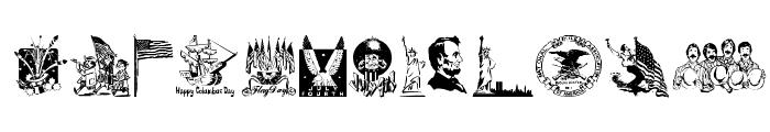 Americanic Font UPPERCASE