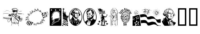 Americanic Font LOWERCASE