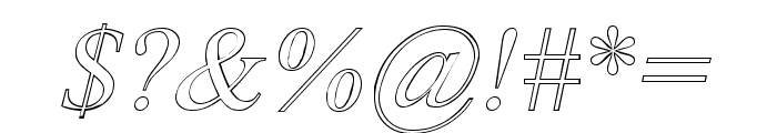 Amerton Outline Italic Font OTHER CHARS