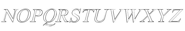 Amerton Outline Italic Font UPPERCASE