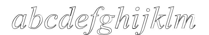 Amerton Outline Italic Font LOWERCASE