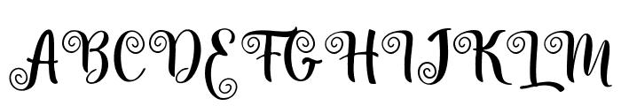 Amilya Font UPPERCASE