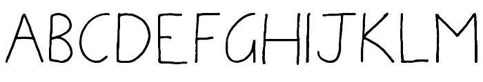 Ammys Handwriting Font UPPERCASE