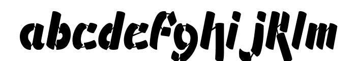 Ampad Solid Regular Font LOWERCASE