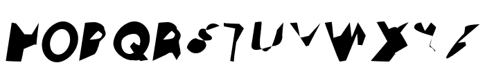 Ampere Condensed Italic Font UPPERCASE