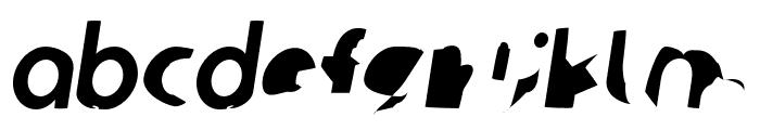 Ampere Condensed Italic Font LOWERCASE