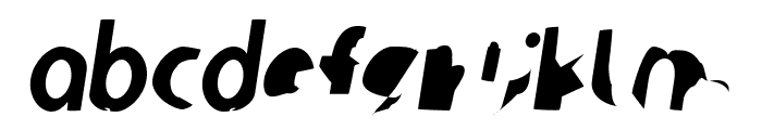 Ampere SmallCaps SuperCondensed Italic Font LOWERCASE