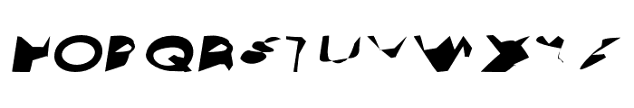 Ampere SmallCaps SuperExtended Italic Font UPPERCASE