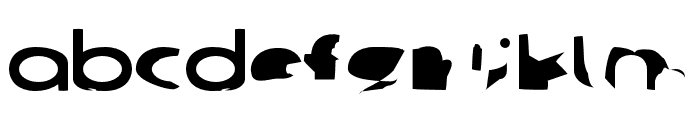Ampere SmallCaps SuperExtended Font LOWERCASE